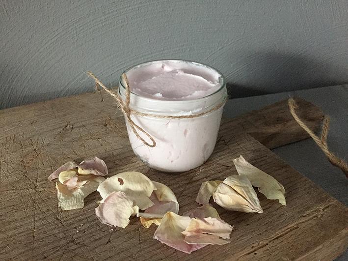 body butter roos - 100 % natuurlijke huidverzorging