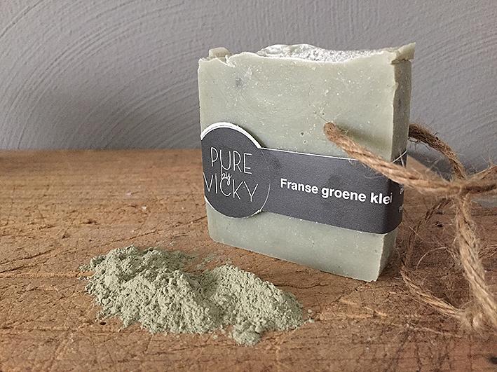 groene klei zeep-natuurlijk - biologisch - vegan - ambachtelij