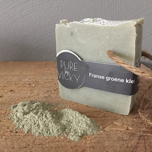 groene klei zeep-natuurlijk - biologisch - vegan - franse groene klei - ambachtelij