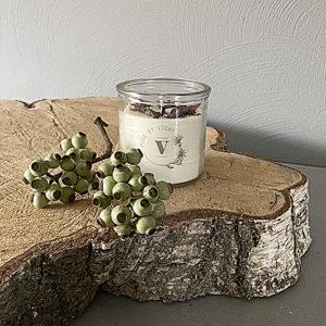Koolzaadwas kaars- natuurlijke kaars - handgegoten - handgemaakt - ambachtelijk gemaakt - light my fire - mannengeur