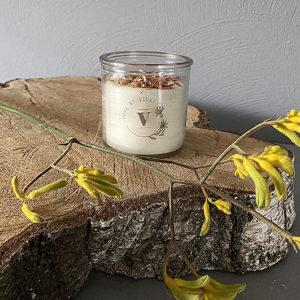 Koolzaadwas kaars- natuurlijke kaars - handgegoten - handgemaakt - ambachtelijk gemaak