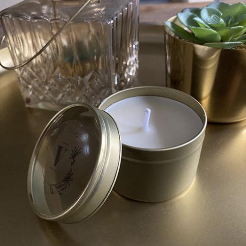Koolzaadwas kaars- natuurlijke kaars - handgegoten - handgemaakt - ambachtelijk gemaakt -blikje pure