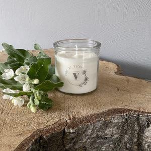 Koolzaadwas kaars- natuurlijke kaars - handgegoten - handgemaakt - ambachtelijk gemaakt -pure