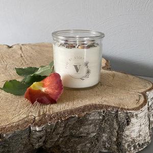Koolzaadwas kaars- natuurlijke kaars - handgegoten - handgemaakt - ambachtelijk gemaakt - roos - sweetest thing