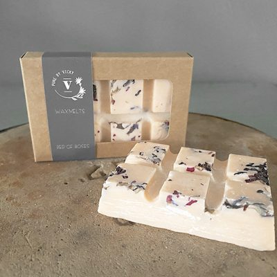 Wax melts natuurlijke was handgemaakt ambachtelijk-Wax melts -bed of roses-2