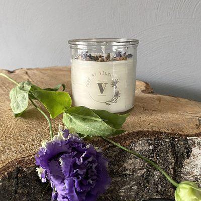 Koolzaadwas kaars- natuurlijke kaars - handgegoten - handgemaakt - ambachtelijk - Lavendel Take-it-easy-1-1024x768