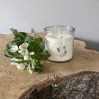 Koolzaadwas kaars- natuurlijke kaars - handgegoten - handgemaakt - ambachtelijk -pure-1