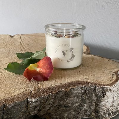 Koolzaadwas kaars- natuurlijke kaars - handgegoten - handgemaakt - ambachtelijk -sweetest-thing-1